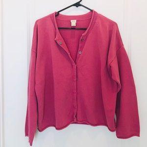 J. Jill Button Down Pink Cardigan Size L